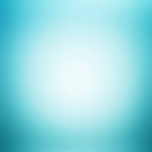 White Blue Abstract Background With Radial Gradient Effect