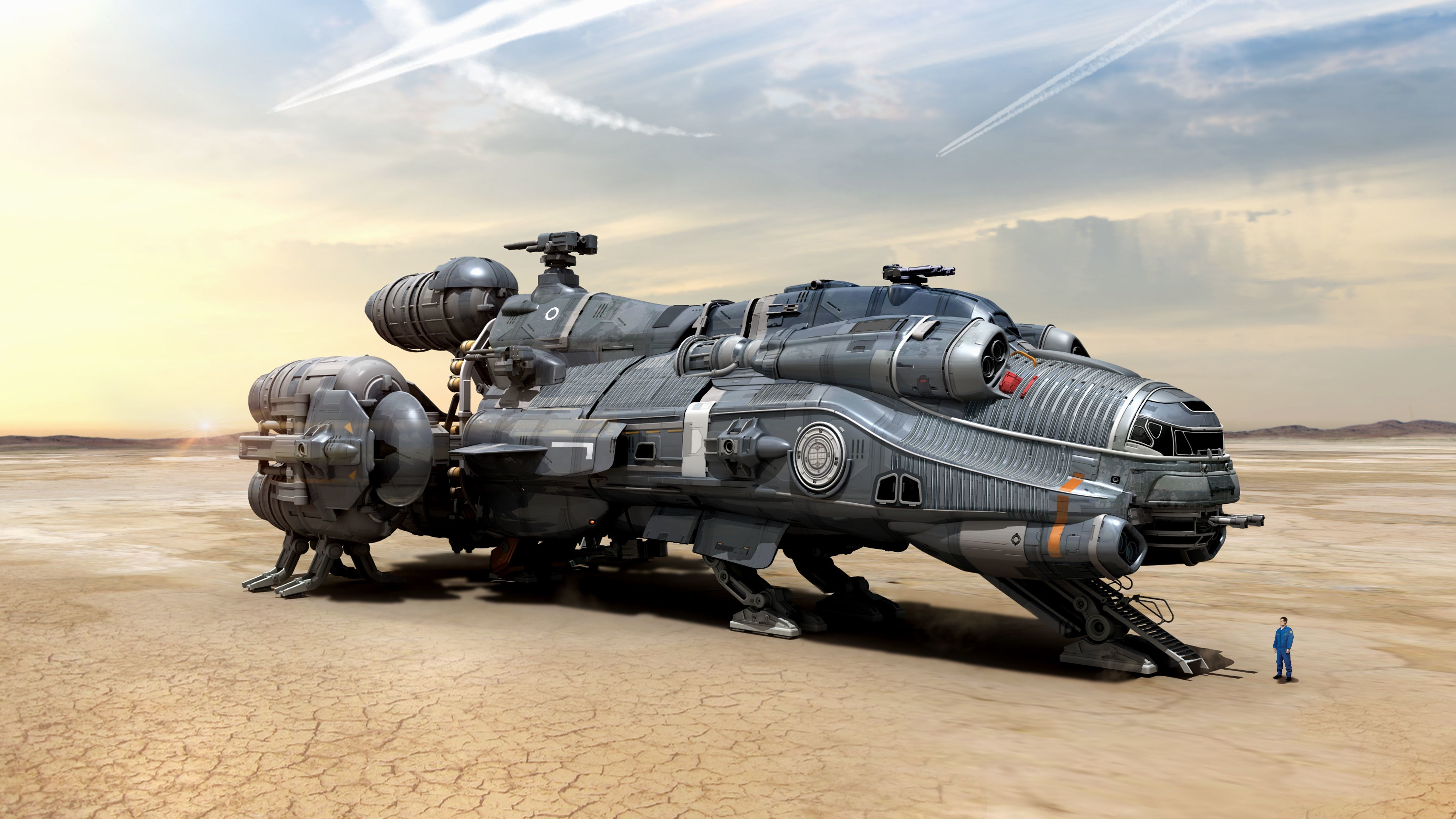Spaceship 4k Ultra Hd Wallpaper High Quality Walls
