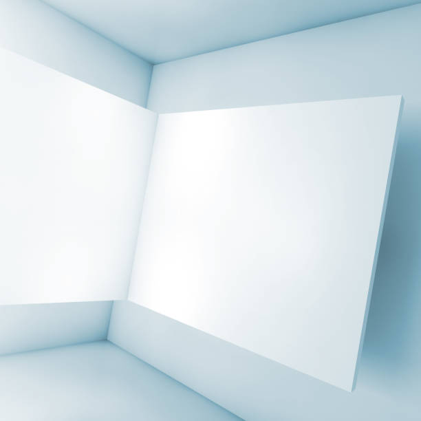 abstract empty interior white 3d corner » high quality walls