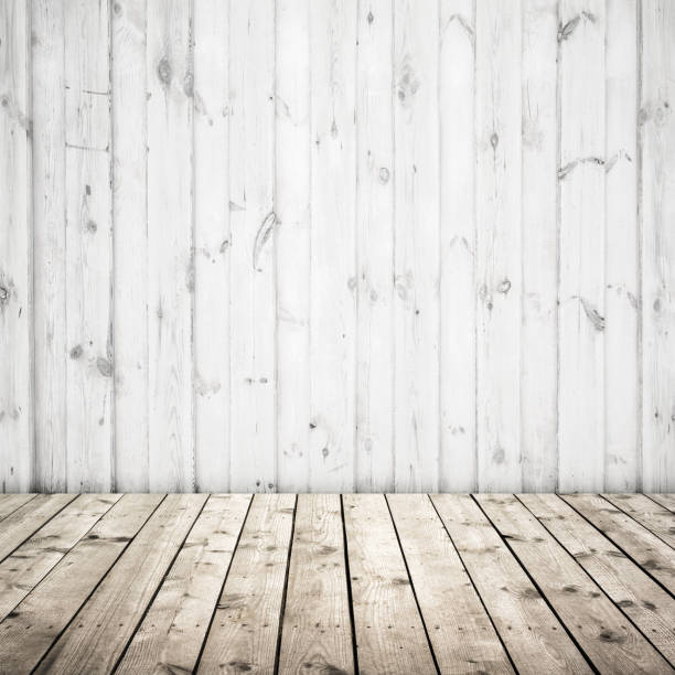 white wall and wooden floor abstract