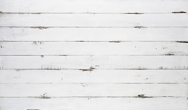 Distressed White Wood Texture Background