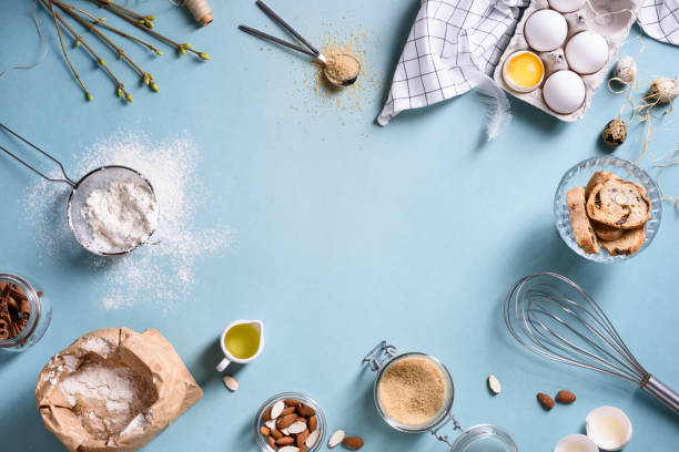 baking or cooking frame ingredients kitchen items for ...