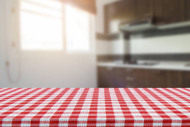 Kitchen Table Top Background empty marble table top and blurred kitchen bokeh light » high