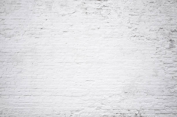 Brick Grunge White Painted Crack Wall Texture Background