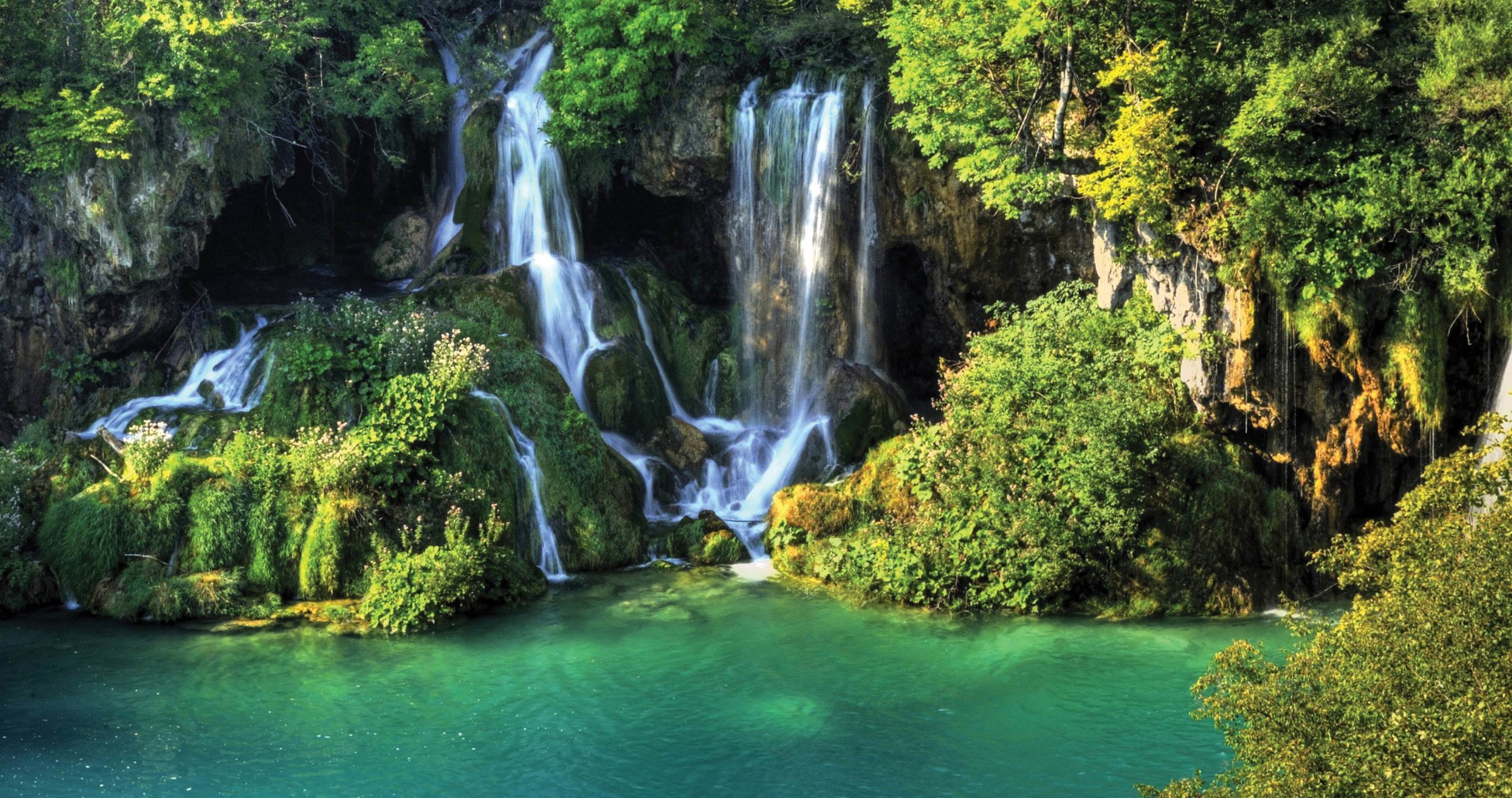 waterfall in the nature 4k ultra hd wallpaper » High ...