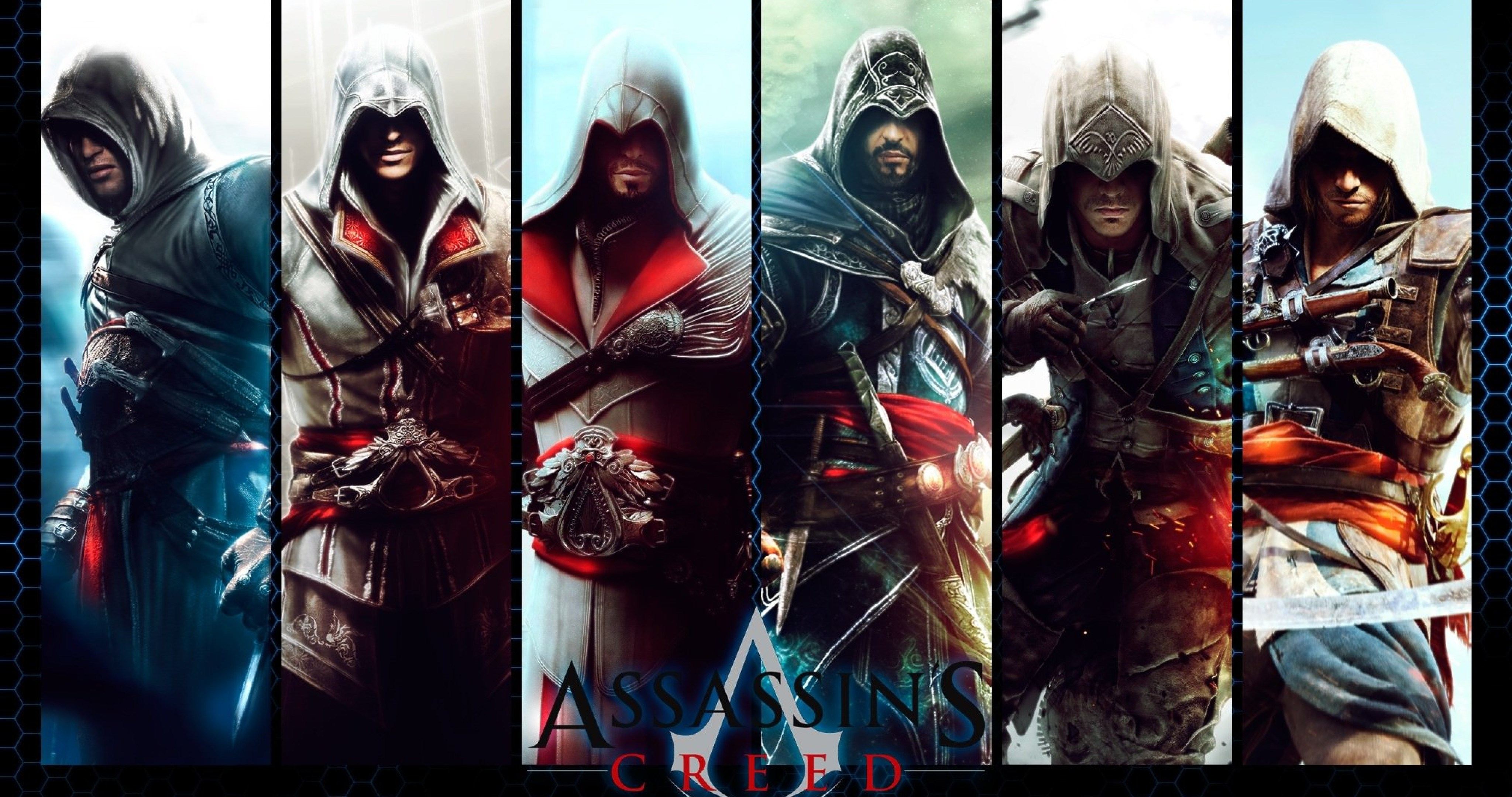 Assassins Creed Game Characters 4k Ultra Hd Wallpaper
