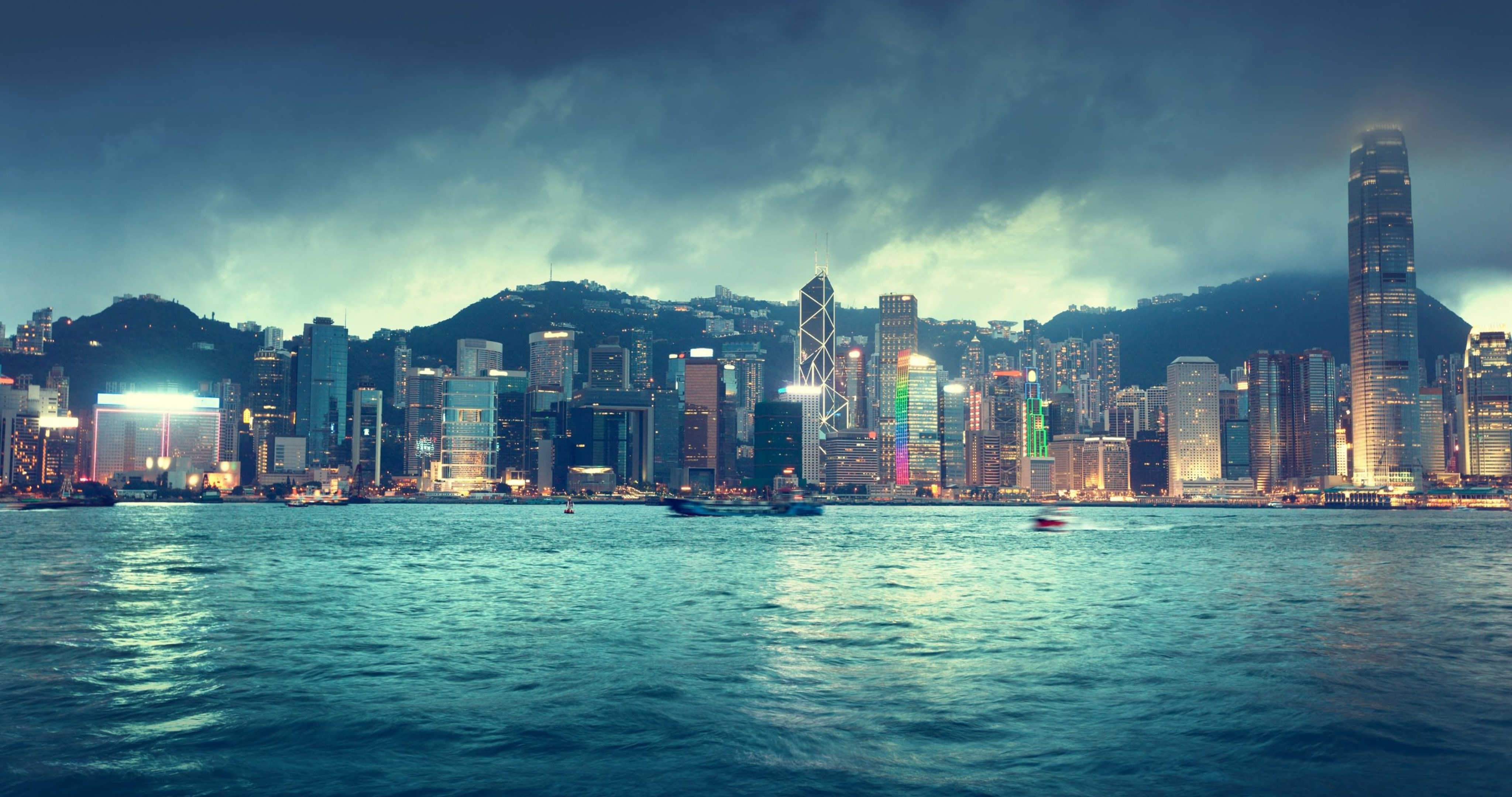 Hong Kong Skyline Wallpaper 4k Ultra Hd Wallpaper High