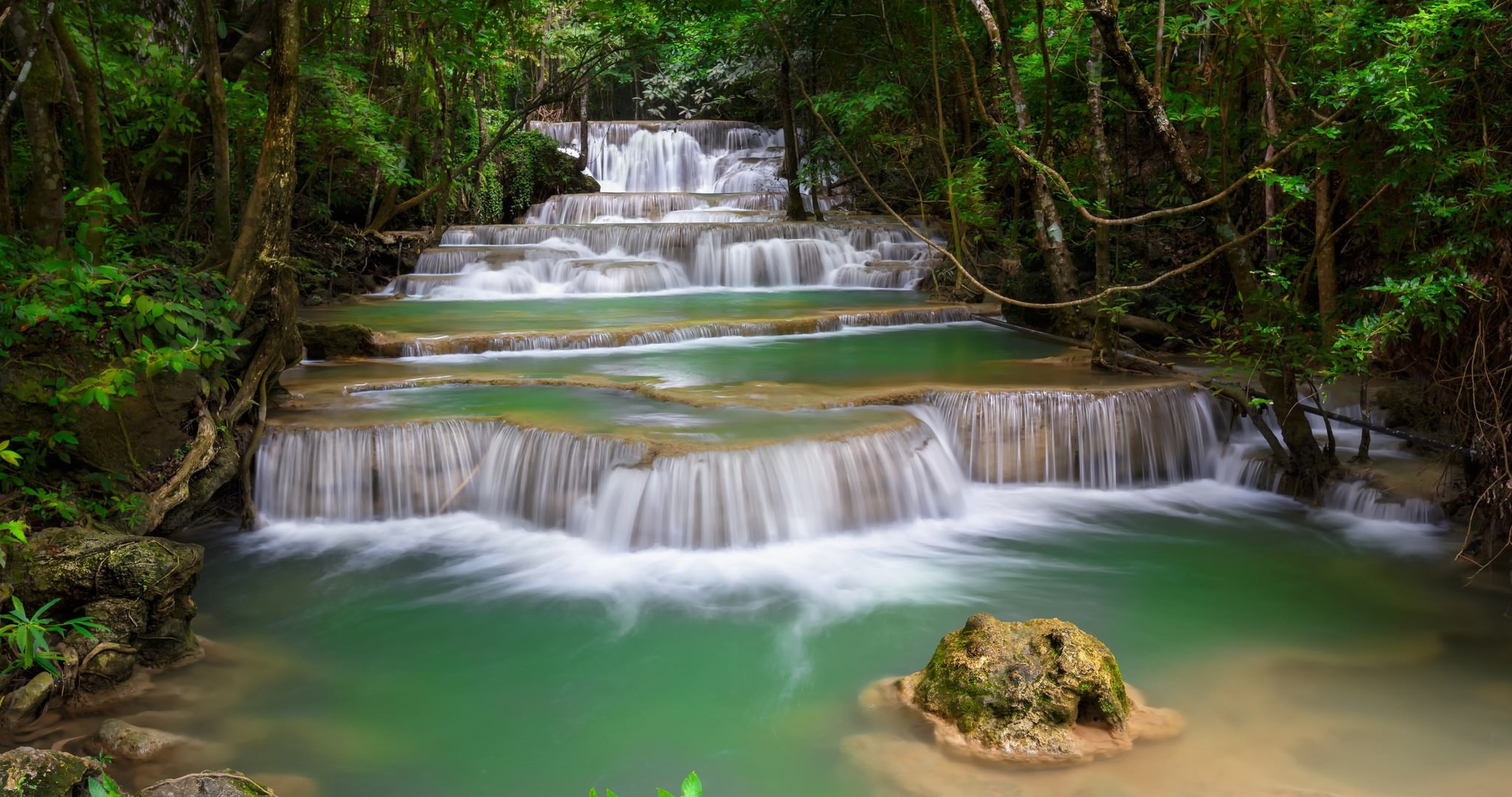 colorful waterfall in nature 4k ultra hd wallpaper » High ... - photo#37