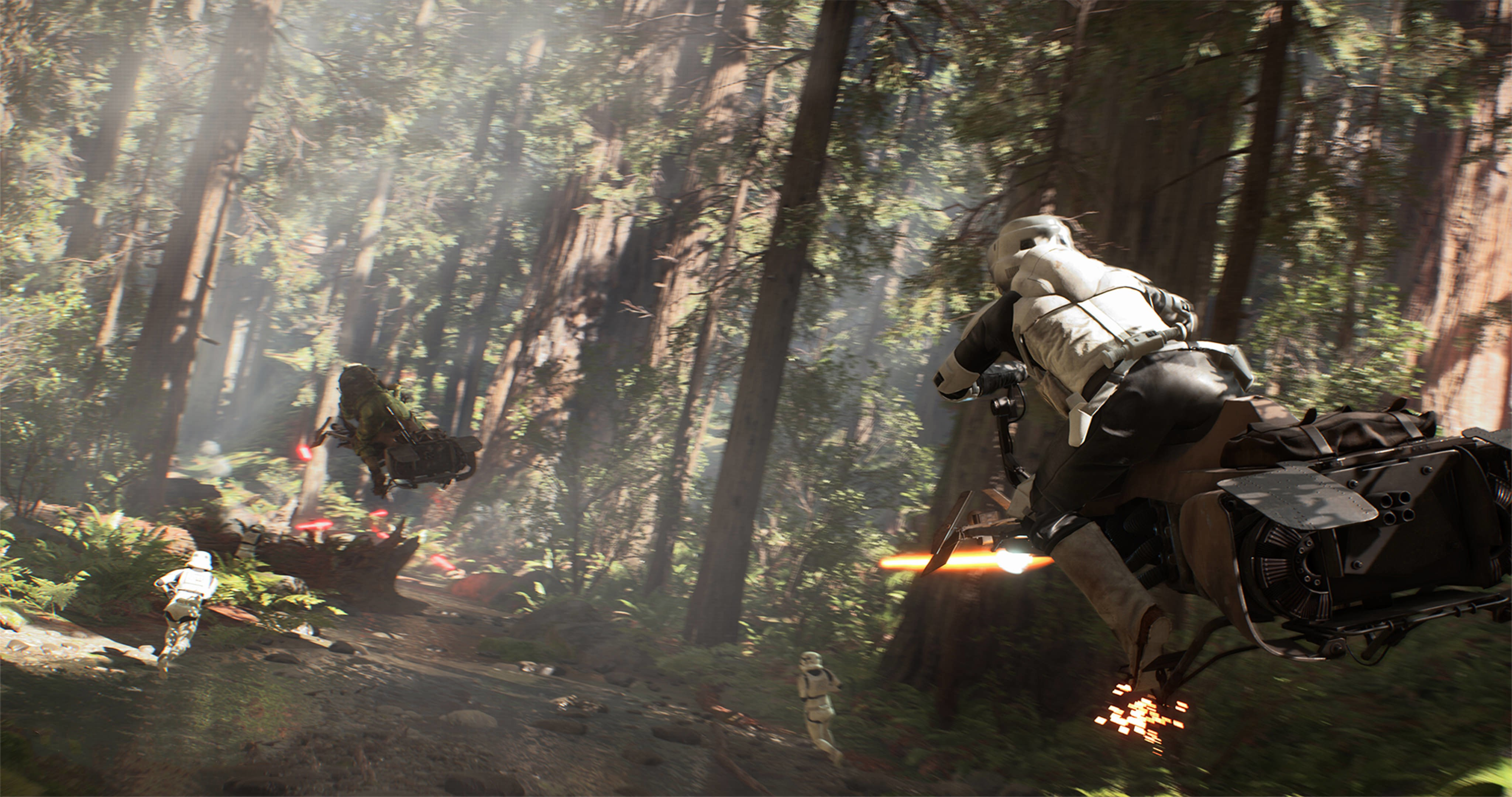 Star Wars Battlefront Forest Chase 4k Ultra Hd Wallpaper High Quality Walls