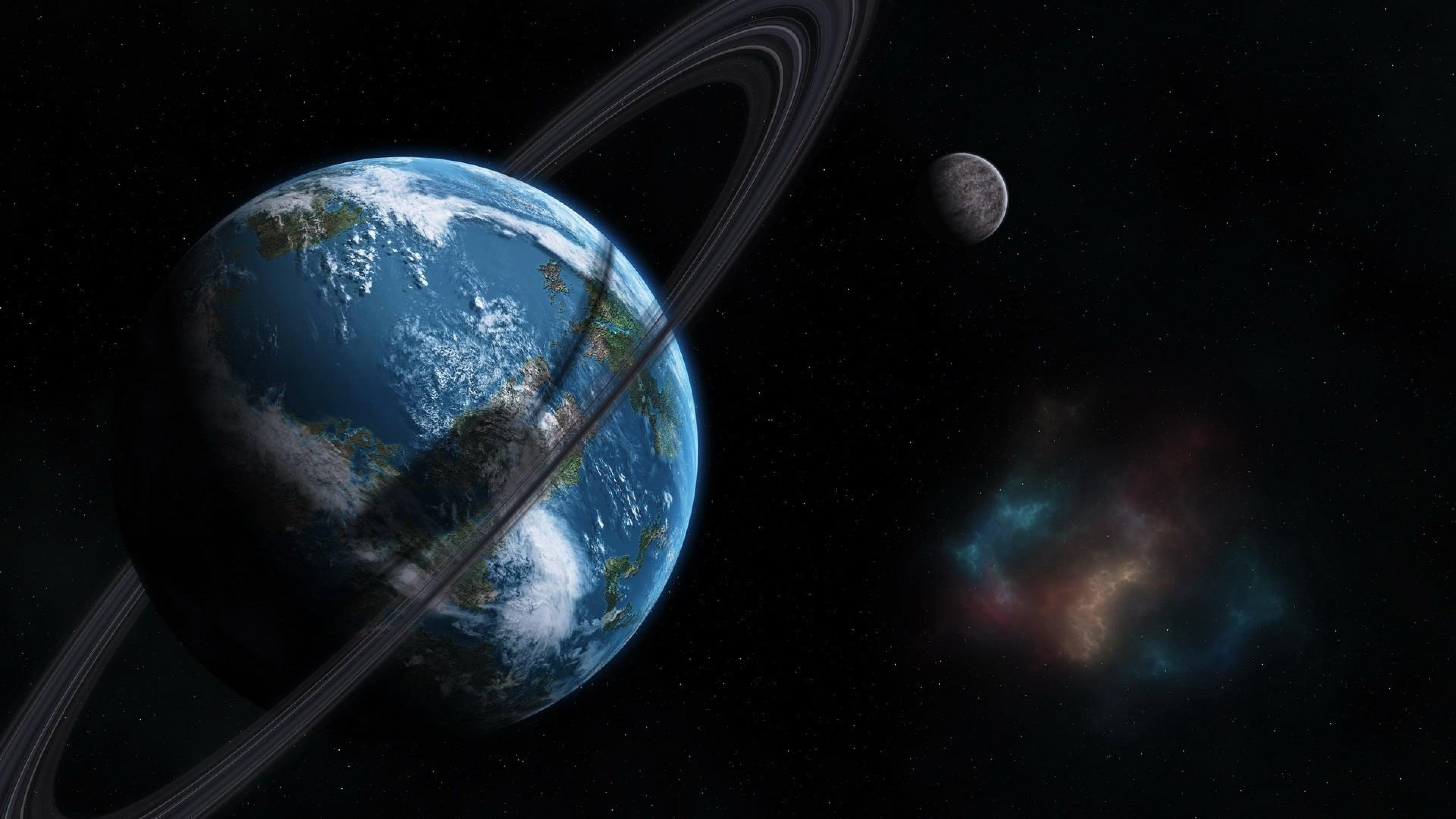 Earth Orbit Between Earth And Space 4k Ultra Hd Wallpaper High
