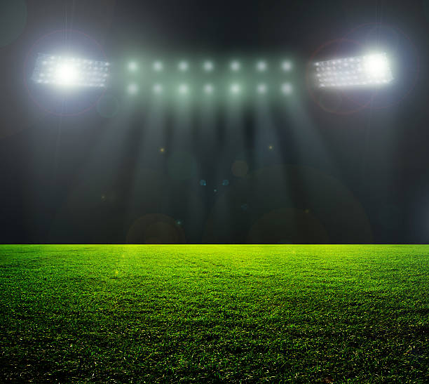Stadium In Lights And Flashes: Football Stadium Background » High Quality Walls