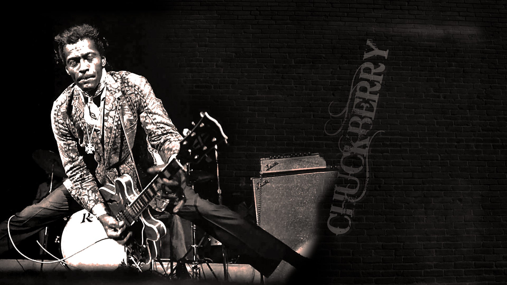 Reelin and rockin chuck berry painting by jean